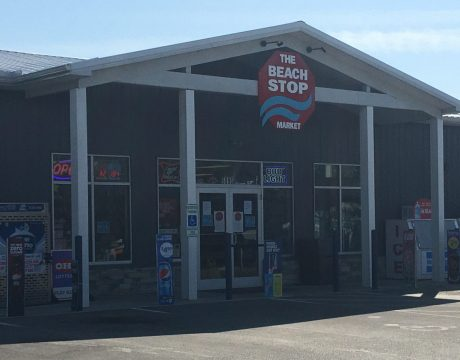 front of carry out store