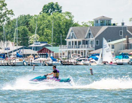 jet skier on the lake