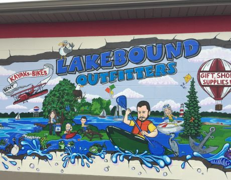 Lakebound Outfitters mural
