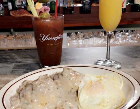 mimosa, bloody mary, eggs, sausage gravy