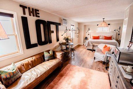 loft living room bedroom