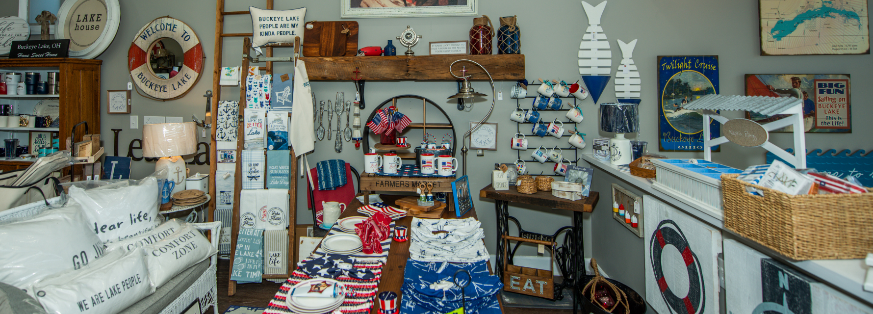 lake merchandise in a store