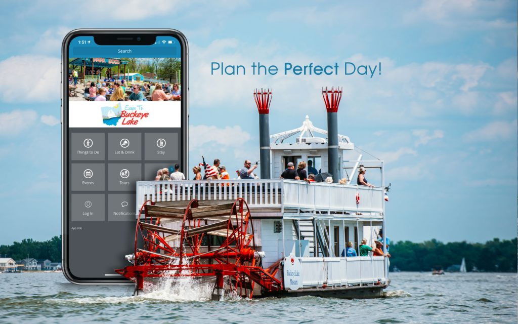 paddle boat with app advertisment