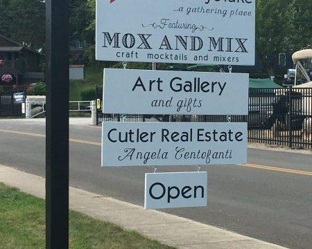 Business sign for Heart of Buckeye Lake.